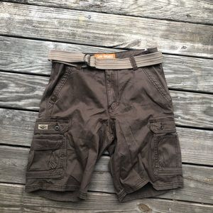 Lee Dungarees Brown Shorts with belt